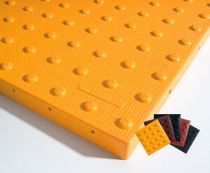 Cast-In-Place Tactile Warning Tiles